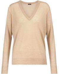 JOSEPH Cashair Cashmere Sweater - Natural
