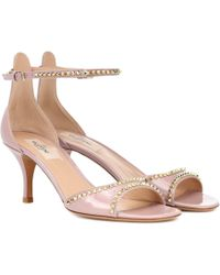 Valentino - Rockstud No Limit Patent Leather Sandals - Lyst