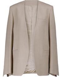 Totême Wool-blend Twill Blazer - Natural