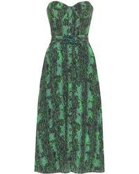 ROTATE BIRGER CHRISTENSEN Peggy Snakeskin-print Woven Midi Dress - Green