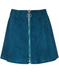 Stouls Mini-jupe Fantomette en daim - Bleu