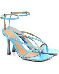 Bottega Veneta Sandalias con tira en el tobillo - Azul