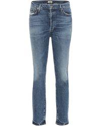 Citizens of Humanity High-Rise Slim Jeans Olivia - Blau