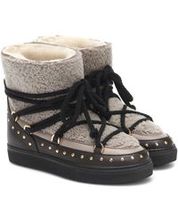 Inuikii - Shearling And Leather Boots - Lyst