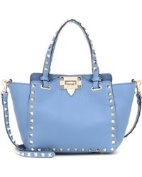 Valentino - Rockstud Mini Leather Tote - Lyst