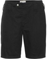 Saint Laurent Cotton-blend Denim Shorts - Black