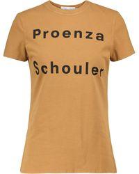Proenza Schouler White Label - T-shirt in cotone stretch - Multicolore