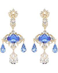 Dolce & Gabbana - Crystal-embellished Earrings - Lyst