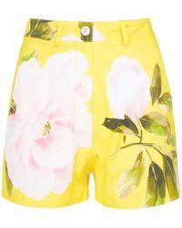 Valentino Shorts aus Baumwolle und Seide - Gelb