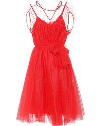 MSGM Kleid aus Tüll - Rot