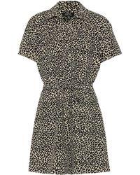 A.P.C. Ursula Leopard-print Playsuit - Natural
