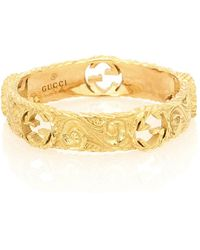 Gucci Ring Interlocking G aus 18kt Gelbgold - Mettallic