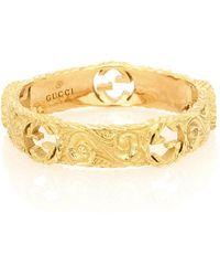 Gucci Ring Interlocking G aus 18kt Gelbgold - Mettallic