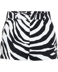 Dolce & Gabbana Shorts mit Zebra-Print - Schwarz