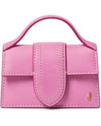 Jacquemus Le Petit Bambino Suede Shoulder Bag - Pink