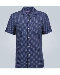 Ralph Lauren Purple Label - Kurzarmhemd mit Polka-Dots - Lyst