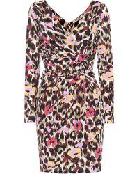 Roberto Cavalli Printed Jersey Dress - Multicolour