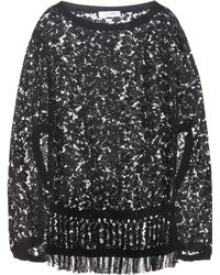 Valentino - Cotton-blend lace poncho - Lyst