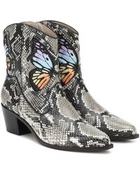 Sophia Webster Stivaletti Shelby in pelle a stampa - Multicolore