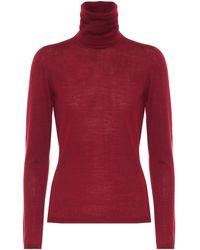Max Mara Jersey Saluto de lana virgen - Rojo