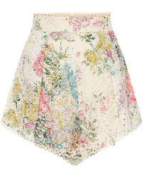 Zimmermann - Heathers High-waisted Cotton Shorts - Lyst
