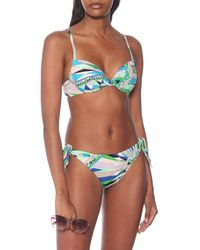 Emilio Pucci Printed Bikini Top - Multicolour
