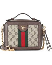 Gucci Ophidia GG Mini Shoulder Bag - Natural