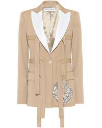 JW Anderson Embellished Virgin Wool Jacket - Natural