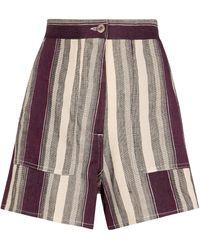 Loewe Paula's Ibiza Shorts aus einem Leinengemisch - Mehrfarbig