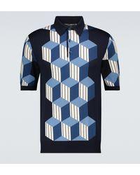 Dolce & Gabbana Polo de seda de manga corta - Azul
