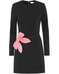 Rebecca Vallance Winslow Bow-embellished Dress - Black