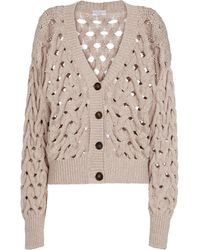 Brunello Cucinelli Exclusive To Mytheresa – Cotton-blend Cardigan - Natural