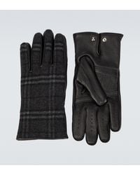 Burberry Cashmere And Wool Blend Gloves - Metallic