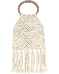 Nanushka Off-white Rope Top Handle Bag
