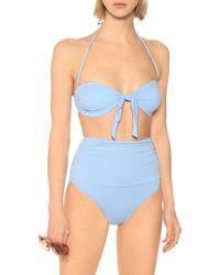 Melissa Odabash Exclusivité Mytheresa – Culotte de bikini Caribe à taille haute - Bleu