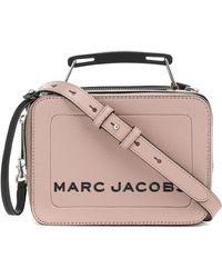 Marc Jacobs Box Mini Leather Shoulder Bag - Natural
