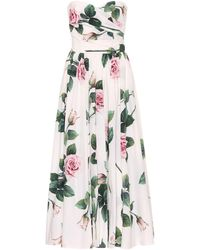 Dolce & Gabbana Floral Cotton Dress - Multicolour