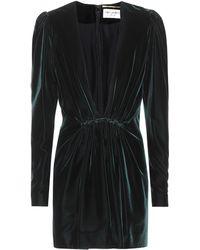 Saint Laurent Velvet Dress - Green