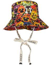 Loewe Paula's Ibiza Floral Cotton Bucket Hat - Multicolour