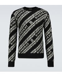 Givenchy Jacquard-Pullover aus Wolle - Schwarz