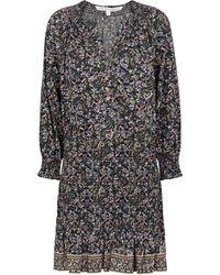 Veronica Beard Karlina Paisley Cotton Minidress - Multicolor
