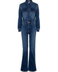 FRAME Jumpsuit di jeans Le Jane - Blu