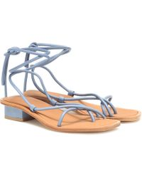 LOQ Ara Leather Sandals - Blue