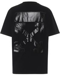 Off-White c/o Virgil Abloh Logo Cotton-jersey T-shirt - Black