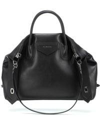 Givenchy Tote Antigona Soft Medium aus Leder - Schwarz