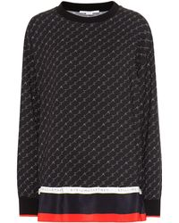 Stella McCartney Top Monogram - Schwarz
