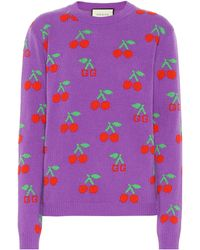 Gucci Pullover aus Wolle - Lila