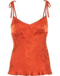 ALEXACHUNG Satin Jacquard Camisole - Orange