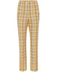 Rejina Pyo Norma Checked High-rise Pants - Yellow