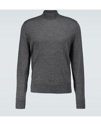 Tom Ford Wool Mock Neck Jumper - Grey